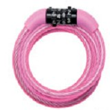 MASTER LOCK Self Coiling Cables with Combination [8143 COL] - Pink - Gembok Kombinasi